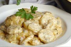 Papas mayordomo, deliciosas y sencillas Butler potatoes are a perfect garnish for meat or fish, they Butler, Deli, Tapas, Potato Salad, Good Food, Food And Drink, Veggies, Appetizers, Favorite Recipes