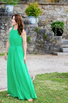 Crown Princess Mary of Denmark during the photo session on the occasion of Prince Henrik's 80th birthday at Chateau de Cayx in France, 11 June 2014.