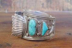 Navajo Jewelry, Indian Jewelry, Vintage Turquoise, Turquoise Stone, Vintage Watches, Watch Bands, Turquoise Bracelet, Cuff Bracelets, Unique Vintage