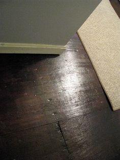 Paint wood floors - RustOleum Kona Brown. 2 coats plus 3 coats of poly.