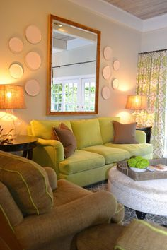 LUCY WILLIAMS INTERIOR DESIGN BLOG: BEFORE AND AFTER: PINEWOOD FAMILY ROOM Living Room Mirrors, Living Room Decor, Living Spaces, Living Rooms, Plate Wall Decor, Japanese Interior Design, Cottage Style Homes, Interior Inspiration, Design Inspiration
