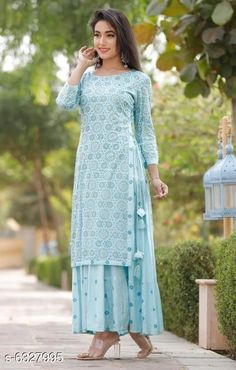 Kurtis & Kurtas Women's Printed Rayon Slub Kurti Fabric: Rayon Slub Sleeve Length: Three-Quarter Sleeves Pattern: Printed Description : Double-Layered Kurtis Multipack: Pack of 1 Sizes: XL (Bust Size: 42 in Length Size: 52 in)  L (Bust Size: 40 in Length Size: 52 in)  XXL (Bust Size: 44 in Length Size: 52 in)  M (Bust Size: 38 in Length Size: 52 in) Country of Origin: India Sizes Available: S, M, L, XL, XXL, XXXL, 4XL, 5XL   Catalog Rating: ★4.3 (32934)  Catalog Name: Attractive Women's Double Layered Kurti CatalogID_1005914 C74-SC1001 Code: 275-6327995-5151