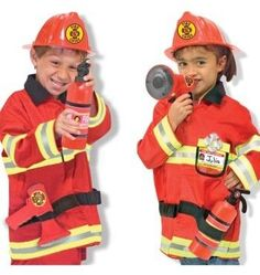 Fireman Police Engineer Helmet Fire Cap Suit Role Play Toy Kit Costume Prop Party Kids Pretend Funny Toys 3 Styles Optional Action & Toy Figures