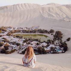 #backpackerstory-blog: Huachachina Oasis - Ica Peru @amyebanksy Mirage or Real ? The Huacachina Oasis in Peru