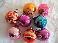 Glass ornaments Christmas Past, Christmas Bulbs, Glass Ornaments, Christmas Light Bulbs
