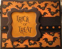 black and orange halloween card