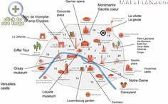 11 Best Paris top tourist attractions map images