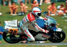 Kevin Schwantz His debut race at Assen in 1986.Barry Sheene had introduction him to Heron SUZUKI boss,and then it's debut!!!(Nori)