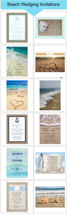 Beach Wedding Invitations-most repinned