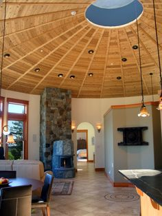 View our video and photo gallery of circular custom homes, built by Mandala. Bring sacred space into your life & see why so many are living in round spaces. Cob Building, Building A House, Yurt Home, Yurt Living, Homestead House, Luxury Glamping, Healthcare Design, Earthship, Round House