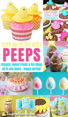 All of the best Peeps recipes and sweet treat ideas on the web, such an awesome collection of fun ideas.  Great Easter dessert ideas!