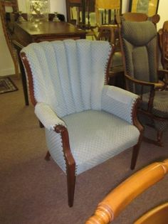 Mahogany Channel Back Chair Have One To Redo Of My Auction Finds