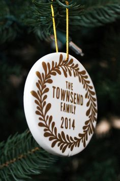 Silhouette America Blog | Personalized Ceramic Ornaments Using Adhesive Vinyl