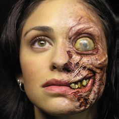 """test make-up for the film """"One Missed Call"""" sculpted by the great Chet Zar for…"""