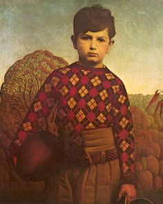 Grant Wood's Plaid Sweater (1931) - oil on canvas   Art Experience:NYC www.artexperience...