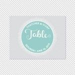 Badge Printable Table Number Cards | a part of the Badge Printable Wedding Invitation Suite from Caroline Fausel Paper Co.