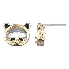 Cute Panda Bear Stud Earrings! - #panda #stud #emitations