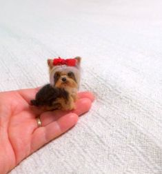 Pet Gift Personalized gift for pet lovers / Custom Dog Pin / Needle Felted Portrait of Your Pet / e