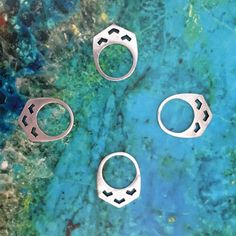 Mountain Rings Silver by Torchlight Jewelry