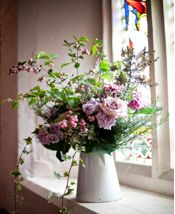 rustic country jug arrangement - perfect for soft pinks and blues
