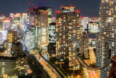 Takashi Kitajima's magnifying glass #photography reveals in-focus #Tokyo among a dazzling blurred landscape.