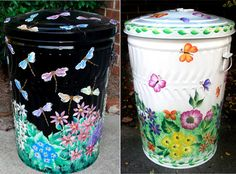 77 Best Trash Can Art Images Garbage Can Trash Bins