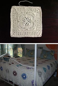 Spring Breeze square, free pattern by Priscilla Hewitt.  Top pic from Ravelry Project Gallery, bottom pic from Starting Chain Crochet ( http://www.startingchain.com/2013/11/featured-member-crochet-november-6.html )