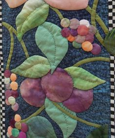 Renli Family Round Robin quilt. Closeup of applique by Aileyn Renli Ecob. Photo by Quilt Inspiration.