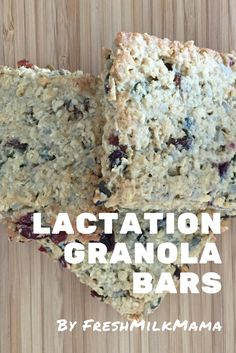 Lactation Granola Bar recipe that you can use to increase your milk supply.