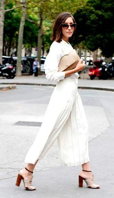 White total look, tendencia de este invierno 2015.