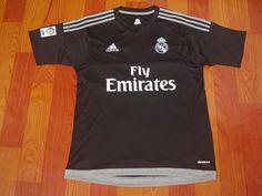 Real Madrid 2015 Away jersey Real Madrid Soccer, Adidas Jacket, Club, Jackets, Black, Football Shirts, Real Madrid Football, Down Jackets, Black People