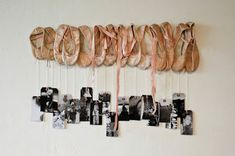 Cute way to repurpose and decorate ballerina themed room.