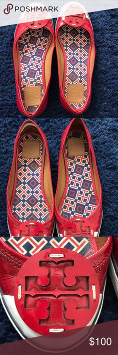 Tory Burch sneaker flats These flats are disguised as sneaks! Worn a few times and super cute for any casual outfit. Wear against the heel from supports, but can be covered up with moleskin pads. Tory Burch Shoes Flats & Loafers