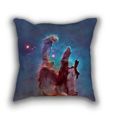"""Throw Pillow with Stuffing/Insert – """"Eagle Nebula"""" 