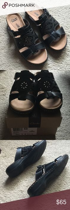 Spotted while shopping on Poshmark: Clarks black sandals size: 8! #poshmark #fashion #shopping #style #Clarks #Shoes