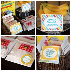 """favors for a curious george parties - love the """"thanks a bunch for coming!"""""""