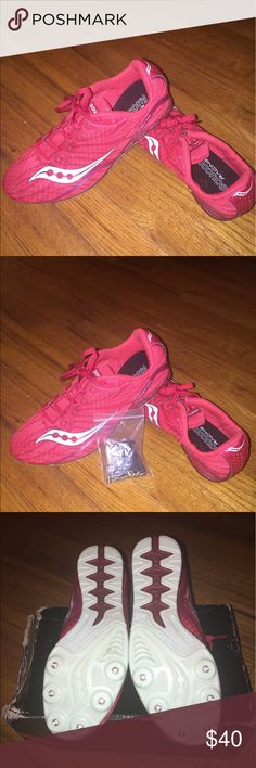 Saucony Racing Shoes Saucony Racing Shoes. Worn once. Box included. Spikes included. Very comfortable. Size 8.5 Women's. Saucony Shoes Athletic Shoes
