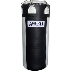 Ampro Super Heavy Buffalo Leather Punch Bag - Black/White £300.00