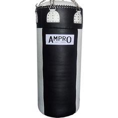 Ampro Super Heavy Buffalo Leather Punch Bag - Black/White £300.00