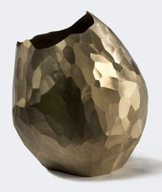 Bronze Facet Vase by Wiseman Studio