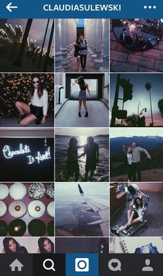 Claudia sulewski Instagram Theme - blue, purple and white with clear precisely placed pictures. One of my fave themes