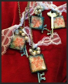 Winter key necklace group