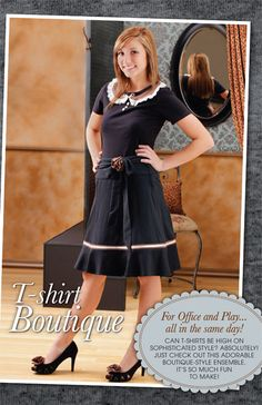 Can t-shirts be stylish and sophisticated? Absolutely! Just check out this adorable boutique-style ensemble. It's so much fun to make!