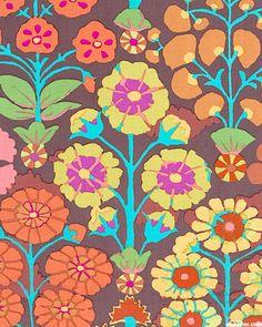 'Sprays' by Kaffe Fassett for Rowan Fabrics.