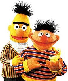 Very RARE Vintage Puppets Bert  Ernie Life Size Muppets Sesame