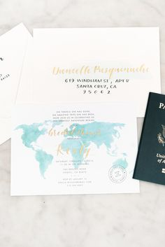 Travel Bridal Shower - Brown Fox Calligraphy