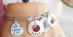 """""""The Reason I Am"""" Personalized Bangles"""