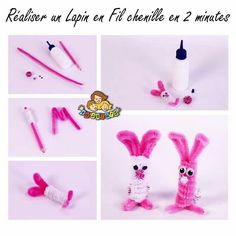 Lapin en chenilles pipe cleaners projects scovolini, bastoncini и ciniglia. Crafts For Kids To Make, Craft Activities For Kids, Easy Sewing Projects, Craft Projects, Pipe Cleaner Crafts, Pipe Cleaners, Chenille Crafts, Rainbow Crafts, Arts And Crafts