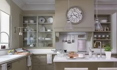clear glass in kitchen cabinets - Google Search
