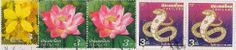 lotus on stamps